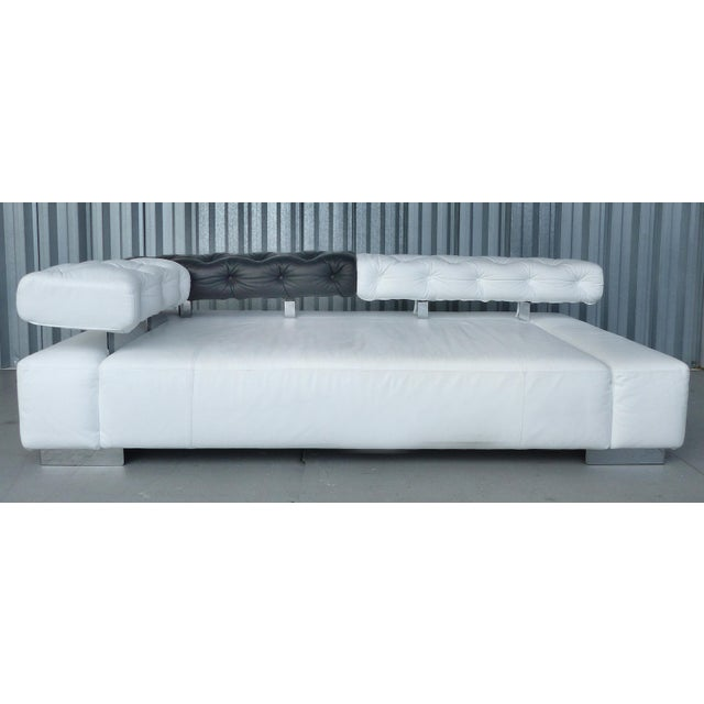 """Modern """"Sunrise Two"""" Leather Bruehl of Germany Daybed For Sale - Image 3 of 11"""