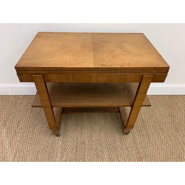American Deco Side Table With Pivoting Fold-Out Top For Sale - Image 10 of 10