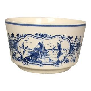 Delft Blue and White Sailboat Bowl