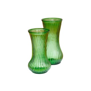 Green Flower Vases, a Pair Preview
