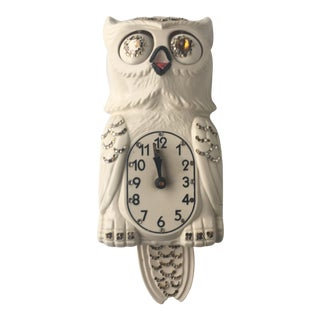 Vintage Electric Owl Klock by Kit Cat Clock Makers For Sale