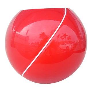 Red Glass Ball Vase
