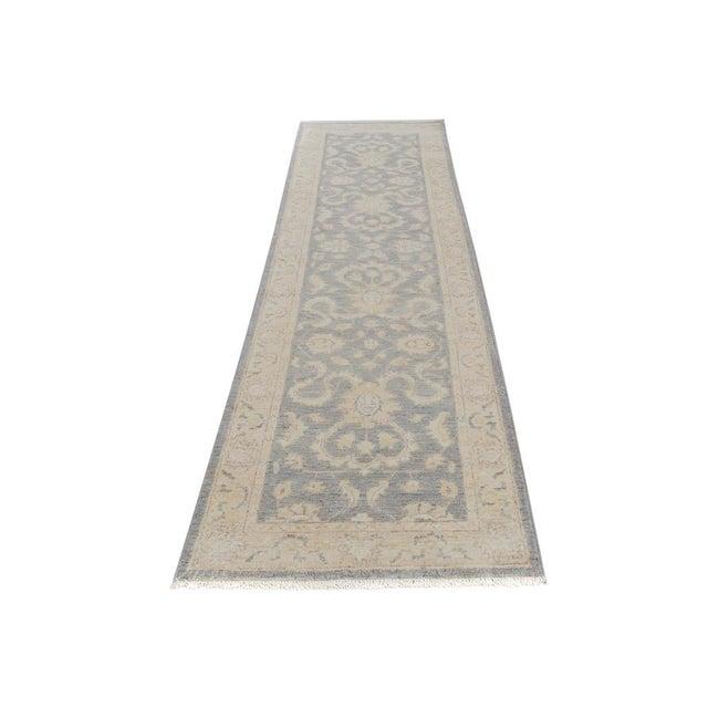 Textile Kafkaz Peshawar Genaro Gray/Tan Wool Rug - 2'6 X 9'11 For Sale - Image 7 of 7