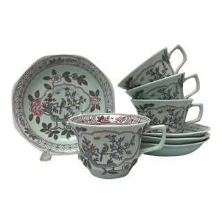 Adams English Ironstone Tea Cup & Saucer, Set of 4 For Sale