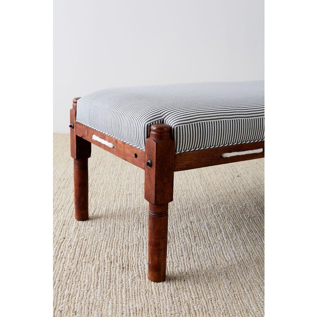 18th Century New England Cherry Daybed or Rope Bed For Sale In San Francisco - Image 6 of 13