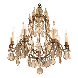 French 10-Light Chandelier For Sale