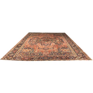 Antique Palace Size Persian Heriz Rug - 11' X 15' For Sale