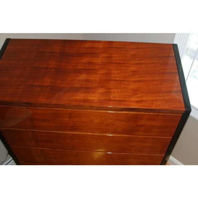 Henredon Black Lacquer & Koa Wood Dressers - A Pair - Image 3 of 11