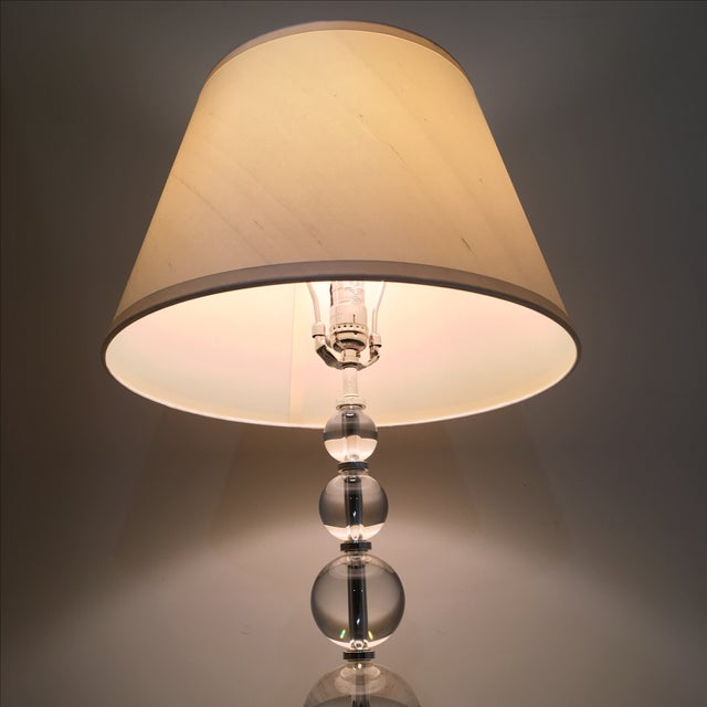 Restoration Hardware Crystal Ball Lamp - Image 4 of 6