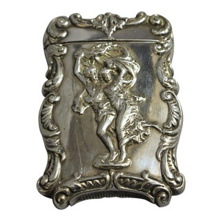 1890s Sterling Silver Match Case For Sale