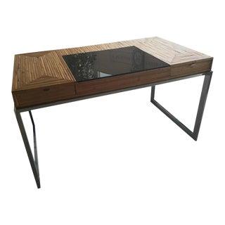 Milo Baughman Bamboo & Chrome Desk