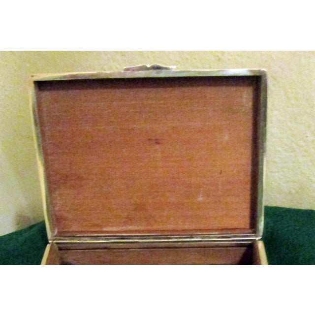 Chinese Export Silver Cigar Box by Hung Chong & Co. For Sale - Image 4 of 10