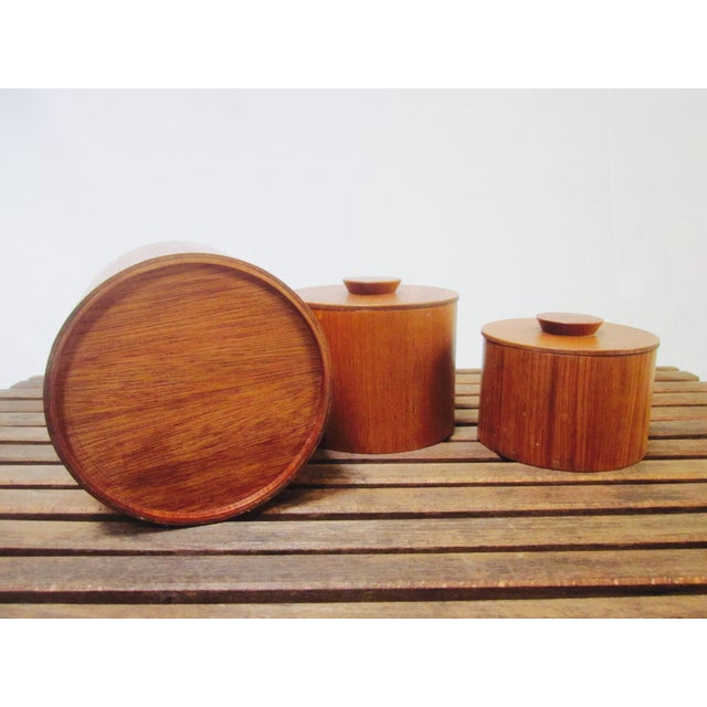 Danish Modern Teak Canister Set - Image 5 of 11