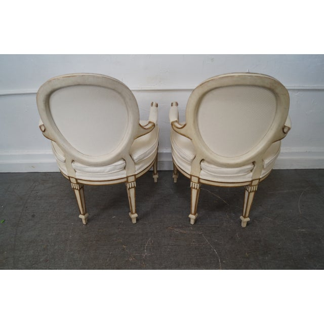 Widdicomb Paint Frame Regency Style Arm Chairs - A Pair - Image 4 of 10