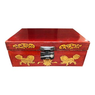 Late 19th Century Antique Chinese Lacquered Coffee Box For Sale