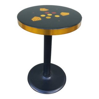 1970s Mid Century Modern Lacquered Game Table For Sale