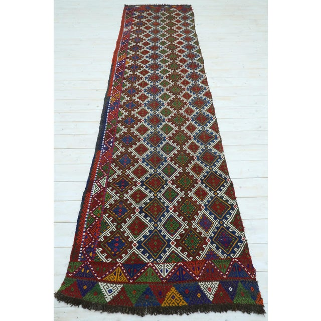 "Vintage Anatolian Kilim Runner-2'11'x11'2"" For Sale - Image 13 of 13"