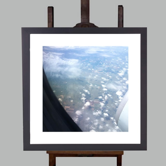 "Americana Limited Edition Framed 23"" X 23"" Wall Art Is Titled ""Tiny Plane"" by Artist B. Leeds For Sale - Image 3 of 3"
