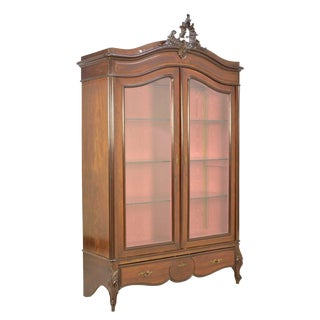 19th Century French Louis XV Style Vitrine Cabinet For Sale