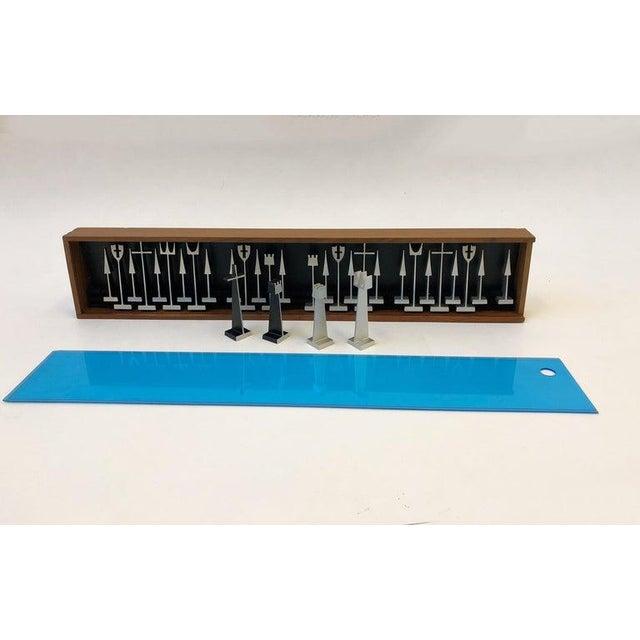 Modern 1962 Aluminum Chess Set by Austin Enterprises For Sale - Image 3 of 10