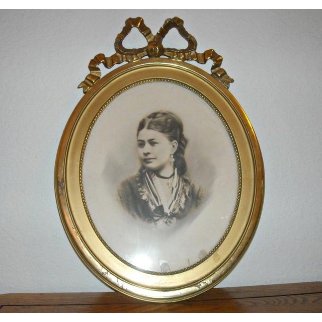 Antique Picture in Gilt Oval Frame - Image 3 of 5