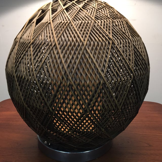 Optic Woven Cane Table Lamp - Image 8 of 11