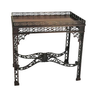 1900 Chippendale Style Mahogany Silver Table For Sale