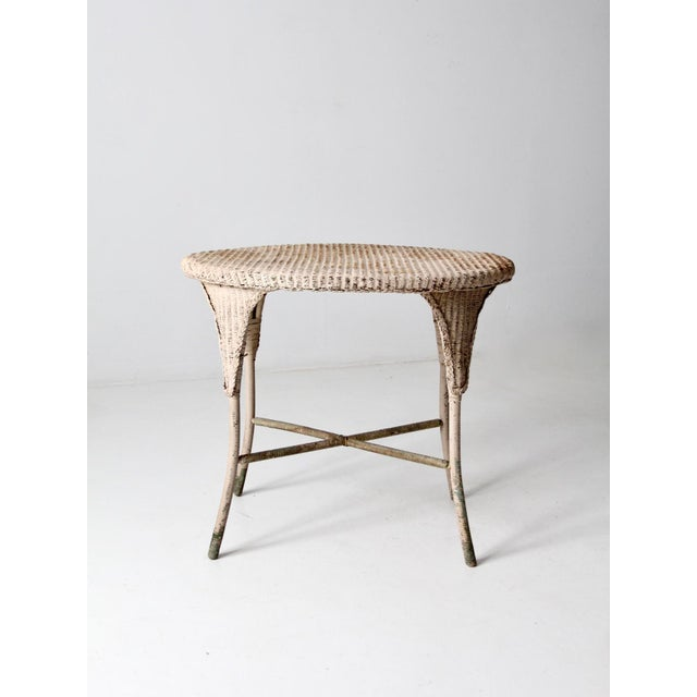 Late 19th Century Antique Wicker Side Table For Sale - Image 5 of 13