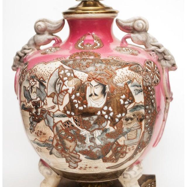 Mid 19th Century Meiji Era Japanese Satsuma Vase as Lamp For Sale - Image 5 of 13