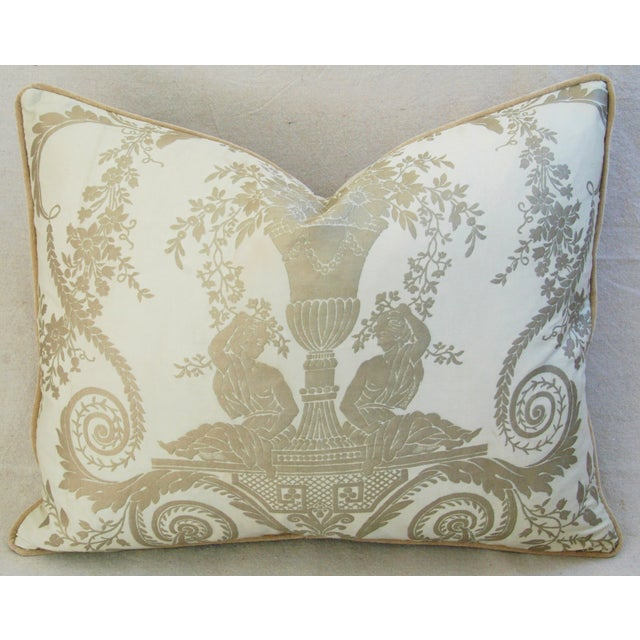 Custom Italian Fortuny Lamballe Pillows - Pair - Image 6 of 11