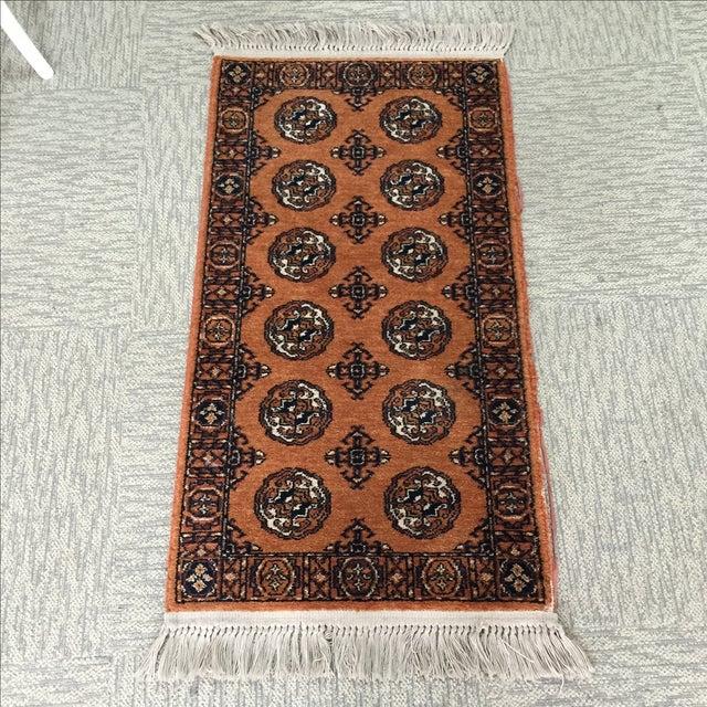 """Orange Karastan Wool Rug - 2'2"""" x 4'8"""" - Image 2 of 6"""
