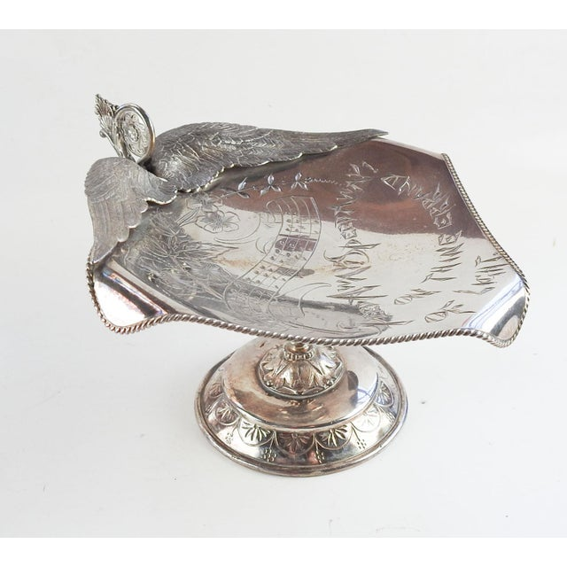 Antique Aesthetic Movement Card Tray Wings & Music For Sale - Image 9 of 9