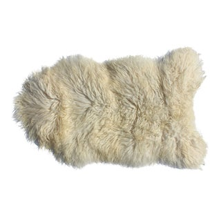 Contemporary Icelandic Sheepskin Shade of White Rug Throw