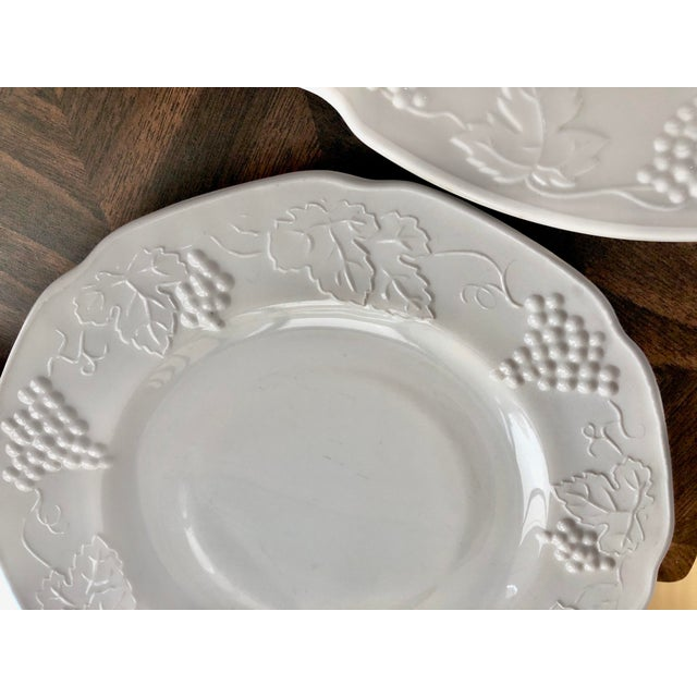 1950s Harvest Milk Glass Torte & Serving Plates by Colony - a Pair For Sale - Image 11 of 13