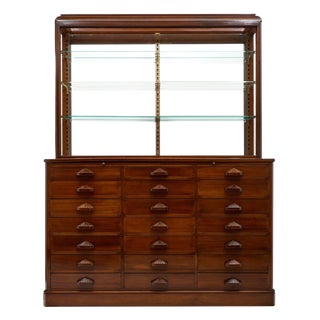 French Haberdashery Cabinet With Display Case For Sale