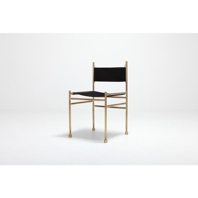 Peachy Brass And Black Velvet Dining Chairs By Luciano Frigerio Beatyapartments Chair Design Images Beatyapartmentscom