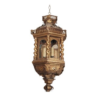 18th Century Italian Gilt Metal Lantern For Sale