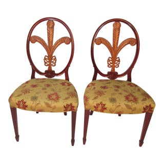1940s Vintage Prince of Wales Design by Joseph Gerte of Boson Chairs- A Pair For Sale