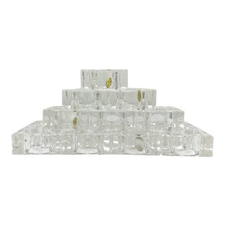 Mid-Century Lucite Napkin Rings - Set of 14 For Sale