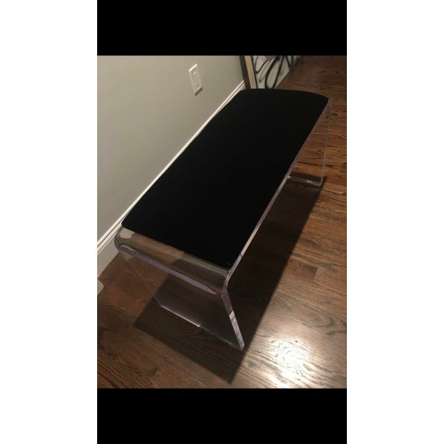 Custom order Scout Design Studio Allane Waterfall Bench. Purchased two in 2017, and area only needed one bench. Mint...