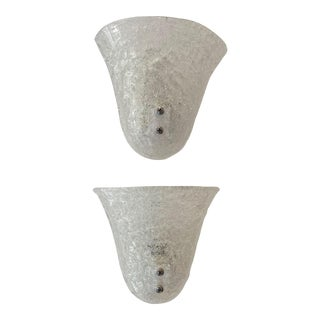 Mid-Century Modern Doria Leuchten Murano Glass Bell Sconces - a Pair For Sale