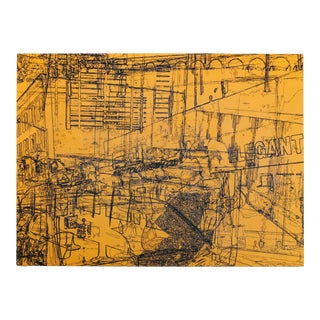 """""""Urban Sweetheart"""" Contemporary Abstract Industrial Mixed-Media Painting by Lee Gainer For Sale"""