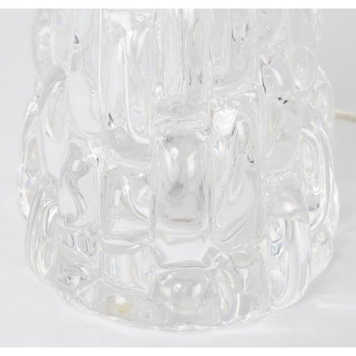 Glass 1970's VINTAGE CARL FAGERLUND FOR ORREFORS CLEAR GLASS LAMPS-A PAIR For Sale - Image 7 of 10