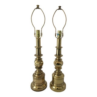 1960s Stiffel Brass Lamps - a Pair For Sale