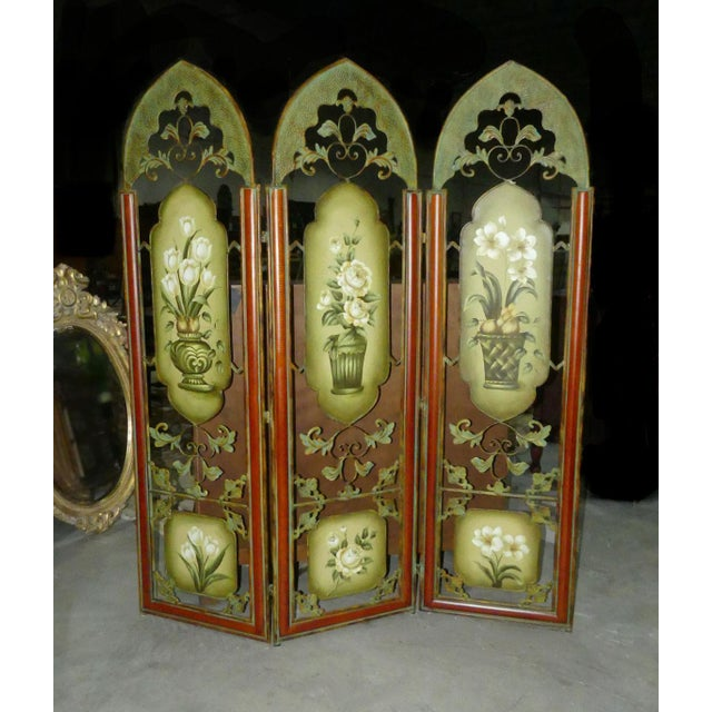 Painted Metal Room Divider/ Floor Screen or Queen Size Headboard For Sale - Image 13 of 13