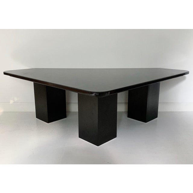 Vintage Modern Sculptural Black Marble Coffee Table For Sale In Minneapolis - Image 6 of 6