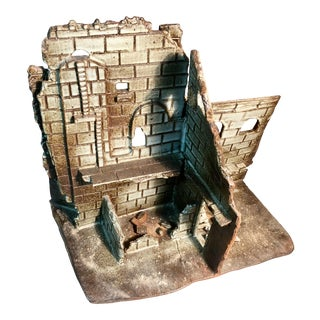 Abbey Ruins Lll Handbuilt Signed English Monastery Sculpture For Sale