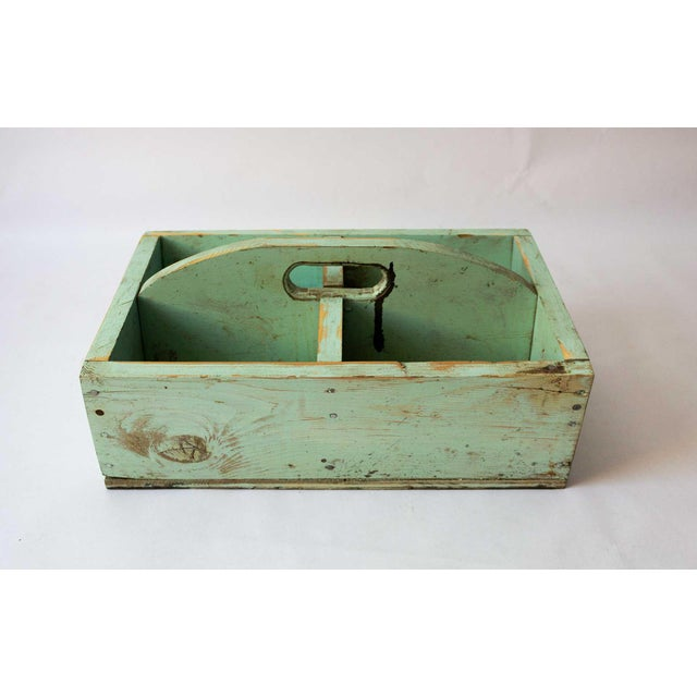 1940s Shabby Chic Mint Green Berry Basket For Sale In Dallas - Image 6 of 8