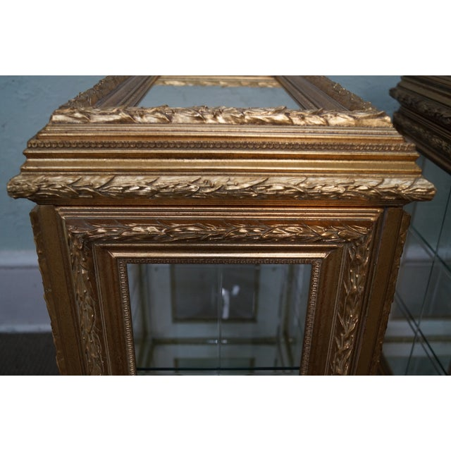 Gilt French Louis XV Vitrine End Tables - Pair - Image 3 of 10
