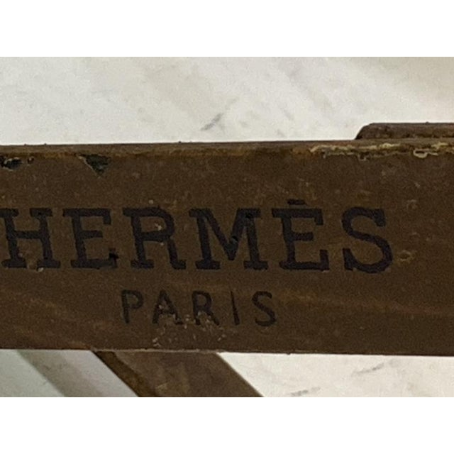 Late 20th Century Hermes Equestrian Iron Strap Side Table For Sale - Image 5 of 13